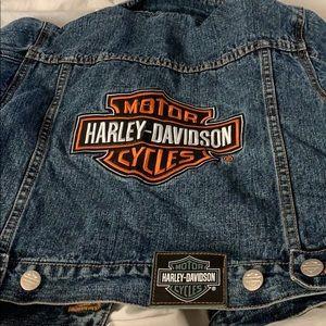 Harley Davidson Jean jacket kids size 4